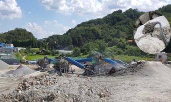천안 아산간 고속도로 건설현장 폐기물로 골재생산